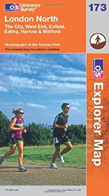 London North, The City, West End, Enfield, Ealing, Harrow & Watford (OS Explorer Map)