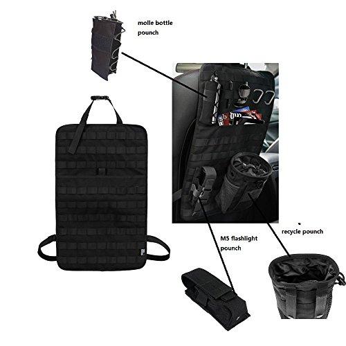 Tactical Expedition Auto Fahrzeug Sitz zurück MOLLE Organizer mit Flasche/Taschenlampe / Recycle Pouch - Airsoft Paintball temporäre bewaffnete Depot Universal Seat Storage Cover -