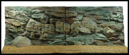 3D Aquarienrückwand 150x50 Rock