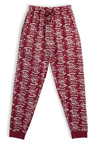 HARRY POTTER Pantalones de Pijama para Mujer Hombre, Hogwarts Pijamas Invierno Mujer 100% Algodón Ropa...