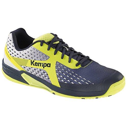 Kempa Wing, Zapatillas de Balonmano Para Hombre, Azul (Azul Marino/Blanco/Amaril 000), 44 EU Kempa