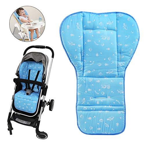 BelleStyle Kinderwagen Einlagen, Universal Baumwolle Baby Sitzauflage komfortable Kinderwagen Autositz Liner für Kinderwagen, Kindersitz, Babyschale, Buggy, Autositz, Esszimmerstuhl (Blau)