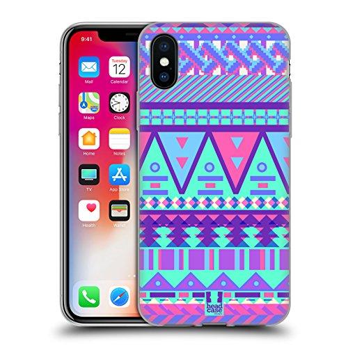 Head Case Designs Tenero Azteco Dolcezze Tribali Cover Morbida In Gel Per Apple iPhone 7 / iPhone 8 Azteco Coperto Di Zucchero