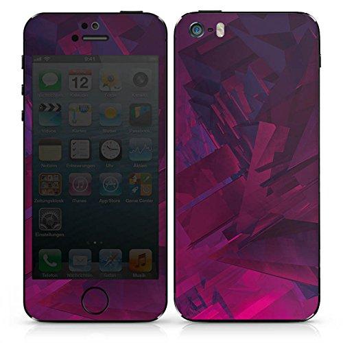 Apple iPhone 5c Case Skin Sticker aus Vinyl-Folie Aufkleber Kristall Lila Muster DesignSkins® glänzend