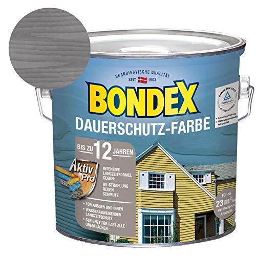 Bondex Dauerschutz-Holzfarbe Silbergrau 2,50 l - 329875