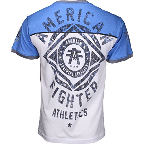 American Fighter by Affliction T-Shirt Chester Weiß/Blau Blau