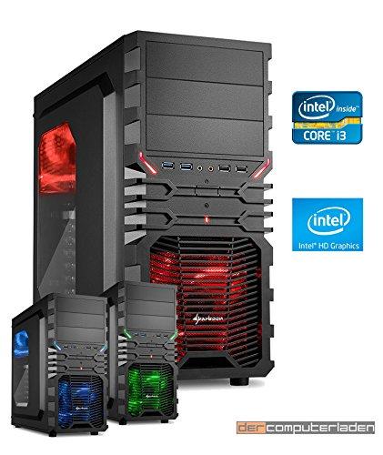 Gaming Aufrüst PC Intel, i3-8100 4x3.6 GHz, 16GB DDR4, Intel UHD Grafik 630 1GB, Spiele Computer zusammengestellt in Deutschland Desktop Rechner