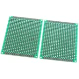 XMQC* 5 x 7cm de fibra de vidrio Breadboard prototipos (2 pcs)
