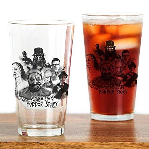 CafePress–American Horror Story Charaktere–Pint-Glas, 16oz Trinkglas farblos
