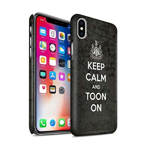 Officiel Newcastle United FC Coque / Clipser Matte Etui pour Apple iPhone X/10 / Geordie Design / NUFC Keep Calm Collection Toon Sur