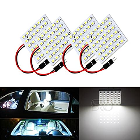 S&D 4-Pack Car Interior Bulbs 36 LED Super Bright Dome