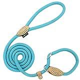 Grand Line Correa Ajustable Cuerda de Nylon para Perros y Gatos Pequeños, Medianos, Grandes y Extra Pesados Ideal para Entrenamiento Corriendo- 150cm, Azul