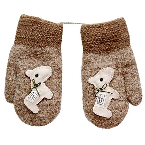 mxjeeio Unisex - Baby Fäustling Kuschlige Teddyfleece-Handschuhe 2-6 Jahre Kleinkinder Kinderhandschuhe warm weich Verdicken Fingerhandschuhe Winter Fäustlinge Bequem Gloves Outdoor Wandern