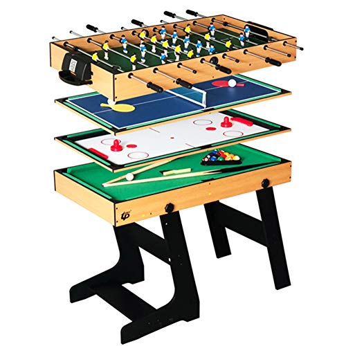 Deluxe 4 in 1 Top Game Table Multi-Funktion Steady Combo Tischtennis (Ping Pong), Glide Hockey, Fußball Foosball, Pool Set für Kinder & Kinder
