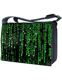 """Luxburg Design sac bandoulière pour ordinateur portable 15""""avec sangle d'épaule–Matrix Code"""