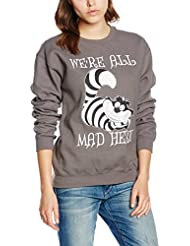 Disney Alice In Wonderland We're All Mad Here, Sweat-Shirt Femme
