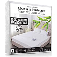 RIFIANS Protège Matelas 100% Fibre DE Bambou – Alèse 140 x 190 cm IMPERMÉABLE – Maintien Parfait - Drap Housse Confort Ultra-Doux – Garantie 5 Ans - Protection OPTIMALE - Anti-Acarien, Antibactérien
