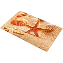 YiLianDa Antideslizante Alfombra de Baño de Succión para Bañera y Ducha Bañera de PVC Ambiental Mats Estrella de mar