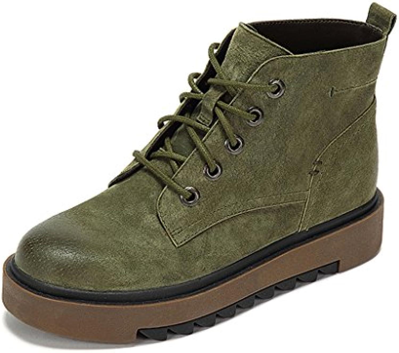 WoHommes 's Martin bottes hiver rétro personnalité mince coupe bottes courte bottes coupe chaussures de marée ( Couleur : Vert...B076C46725Parent 7511ba