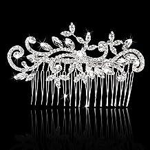 Lookout accessori per capelli da sposa damigella d' onore strass pettine decorazione fiore foglia