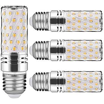 Nakital Bombilla E27 Led E27 Blanco Calido Calida 15 W 6000K 1500Lm LED Candelabros Equivalente Incandescente 120W vela Bombillas No regulables(4 Packs) ...