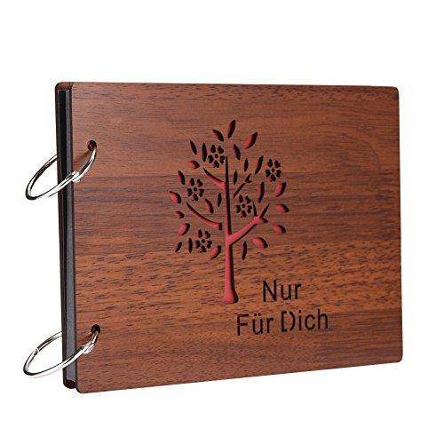 miteux Fotoalbum Zum selbstgestalten in Deutsche Schriftzeichen DIY Holz Decke Fotoalben Scrapbook...