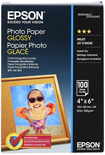EPSON Foto Papier glänzend 100x150mm 100 Blatt 1er-Pack (Epson Glossy Photo Paper)