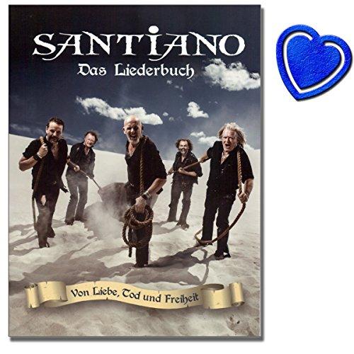 Santiano-di amore, morte e libertà-Song Book, per pianoforte, canto e chitarra-santianos terzo Studio Album-con cuore colorato note Fermacarte