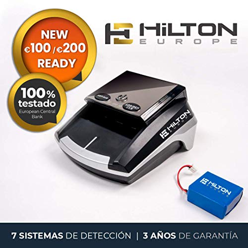 HILTON EUROPE HE-300SD Detector Billetes Falsos actualizable portátil con...
