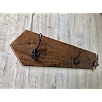 Pointed end solid wood wall mounted coat hook