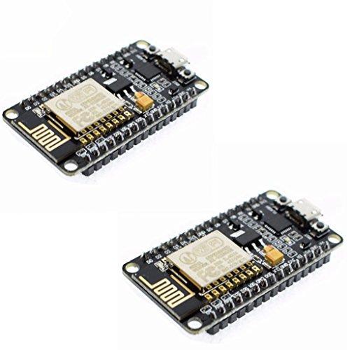 iHaospace 2Pcs ESP8266 NodeMCU LUA Lolin V3 CP2102 ESP-12E Internet Wifi Development Board Open Source Serial Wireless Module Compatible with Arduino