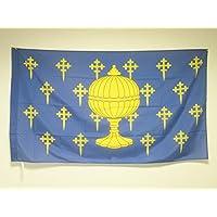 BANDERA del REINO DE GALICIA 409-1833 150x90cm para palo - BANDERA GALLEGA ANTIGUA 90 x 150 cm - AZ FLAG