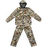 JXS-outdoor Moskitoabstoßende Kleidung, Anti-Moskito-Anzug Bionic Camouflage Anti-Moskito-Angelanzug Baumwolle ist bequem und atmungsaktiv Abnehmbares Moskitonetz,XXXL