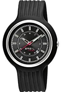 Breil Men's New Hip Hop Analogue Watch TW0407 with 47mm Stainless Steel Case, and Black Resin Strap