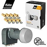 Fuba Quattro LNB LNC per commutatore DEK 407 ■ Schermatura LTE & Mobile ■ Protezione dalle intemperie (allungabile) ■ Full HD 4K ■ 8 connettori F dorati di HB-DIGITAL