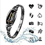 Fitness Tracker, H8 Femme Smart Bracelet Fitness, Moniteur de fréquence Cardiaque, Bracelet d'oxygène de la Pression artérielle, Montre de Sport pour Dame Lady Bracelet Intelligent