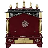 HomeCrafts Wooden Temple for Home (Medium-18 X 12 X 24 (WXDXH)inch, Maroon)