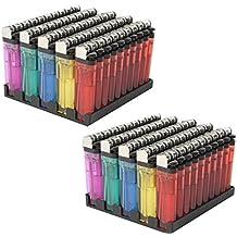 100 x Encendedores desechables Mechero encendedores transp.
