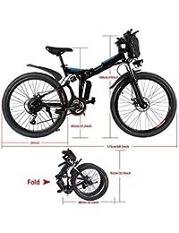 cooshional Bicicleta Eléctrica Plegable de Montaña con la Batería de Iones de Litio 36V Ruedas de
