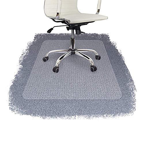 JXWANG Bodenschutzmatte, Bodenschutzmatte Bürostuhl Transparent PVC Stuhlmatte Für Teppichboden Bodenschutz Für Hochflorteppiche 3 Mm Dick Beschlagene Rückseite,2mm-60x90cm
