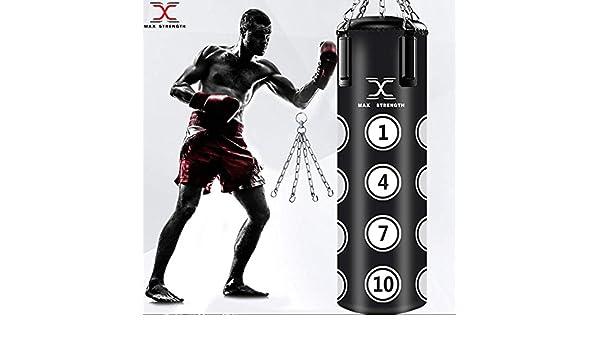 MMA Sparring MAXSTRENGTH Sac de Frappe rembourr/é 1,2 m pour Boxe Gym Kickboxing entra/înement Professionnel Muay Thai avec cha/îne de Suspension