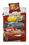 Aymax Cars Disney-Parure da Letto-Copripiumino 140x 200cm Federa 65x 65cm-Flanella