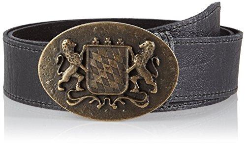 Werner Trachten Unisex Gürtel Trachtengürtel, Gr. 85 cm, Schwarz (schwarz pull up 310)