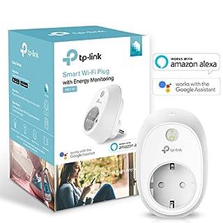 TP-Link WLAN Steckdosen (mit Stromverbrauchsaufzeichnung, funktionieren mit Amazon Alexa, Echo, Echo Dot, Google Home und IFTTT, Kein Hub erforderlich, Steuern Sie Ihre Geräte von überall aus)