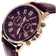TrifyCore Reloj de Mujer Geneva Correa Doble Capa Nueva marrón 1 Paquete (con ...