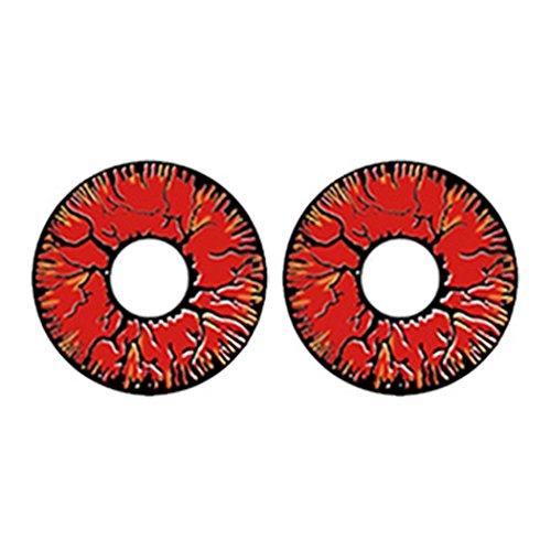 Ncient Un Par Lentillas Cosplay Colores Lentes de Contacto 0 Grado de Cosmético de Disfraz Ojos Maquillaje,Lanzamiento Annual