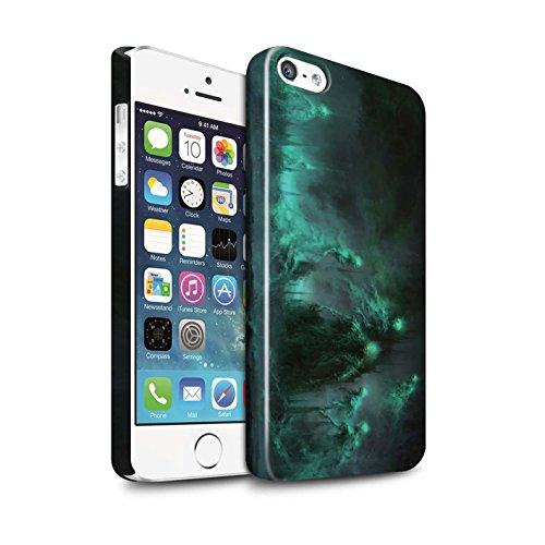Offiziell Chris Cold Hülle / Glanz Snap-On Case für Apple iPhone SE / Sonnengott/Reben Muster / Unterwelt Kollektion Hades/Phantom