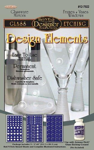 Armour Etch Designer Schablone Pak Design Elements -