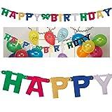 Geschenkidee Geburtstagsdeko - Girlande Buchstaben Happy Birthday, 150x11 cm