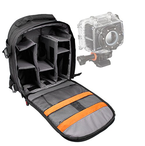 Price comparison product image DURAGADGET High Quality 'Adventure' Water Resistant Nylon Rucksack With Adjustable Padded Interior For Kitvision Edge HD10 Full HD Action Camera